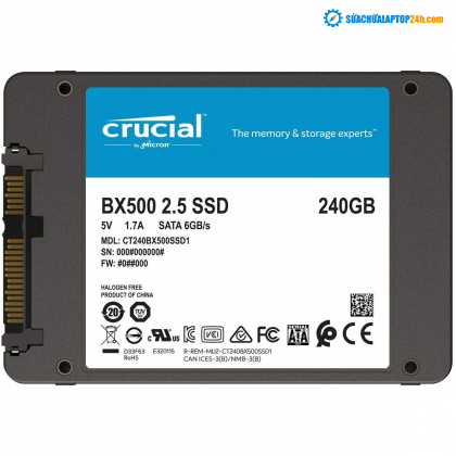 Ổ cứng SSD Crucial BX500 3D NAND SATA III 2.5 inch 240GB