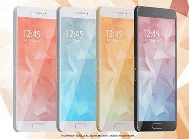 Galaxy S6 siêu mỏng với thiết kế nguyên khối kim loại cực ấn tượng