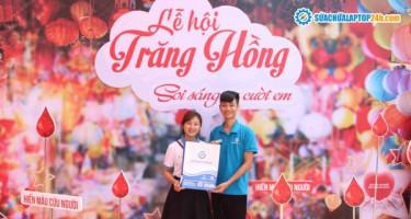 """Sửa chữa Laptop 24h đồng hành cùng chương trình """"Lễ hội Trăng Hồng"""" của Học viện Tài Chính tại Cổ Nhuế"""