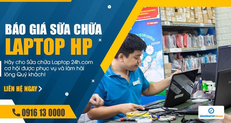 Báo giá tham khảo dịch vụ sửa chữa laptop HP