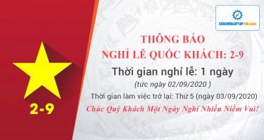 Thông báo nghỉ lễ Quốc Khánh 02/09/2020