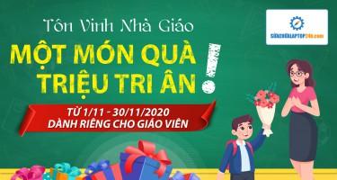 Quà tặng đặc biệt nhân ngày Nhà giáo Việt Nam 20/11 cho quý thầy, cô tại Sửa chữa Laptop 24h .com