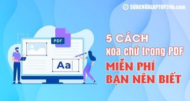 5 cách xóa chữ trong PDF miễn phí bạn nên biết