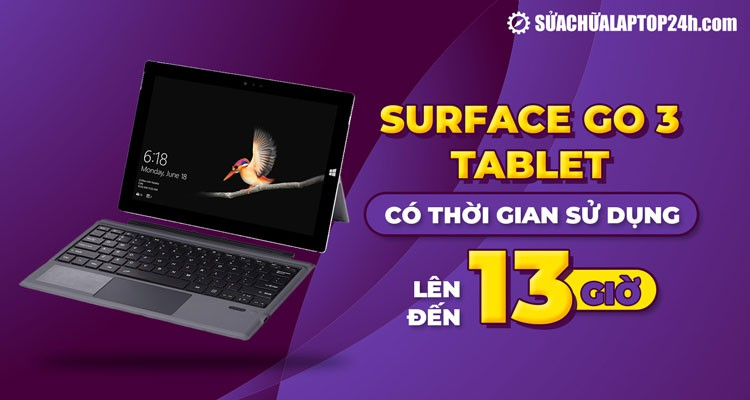 Surface Go 3 - Tablet có thời gian sử dụng lên đến 13 giờ