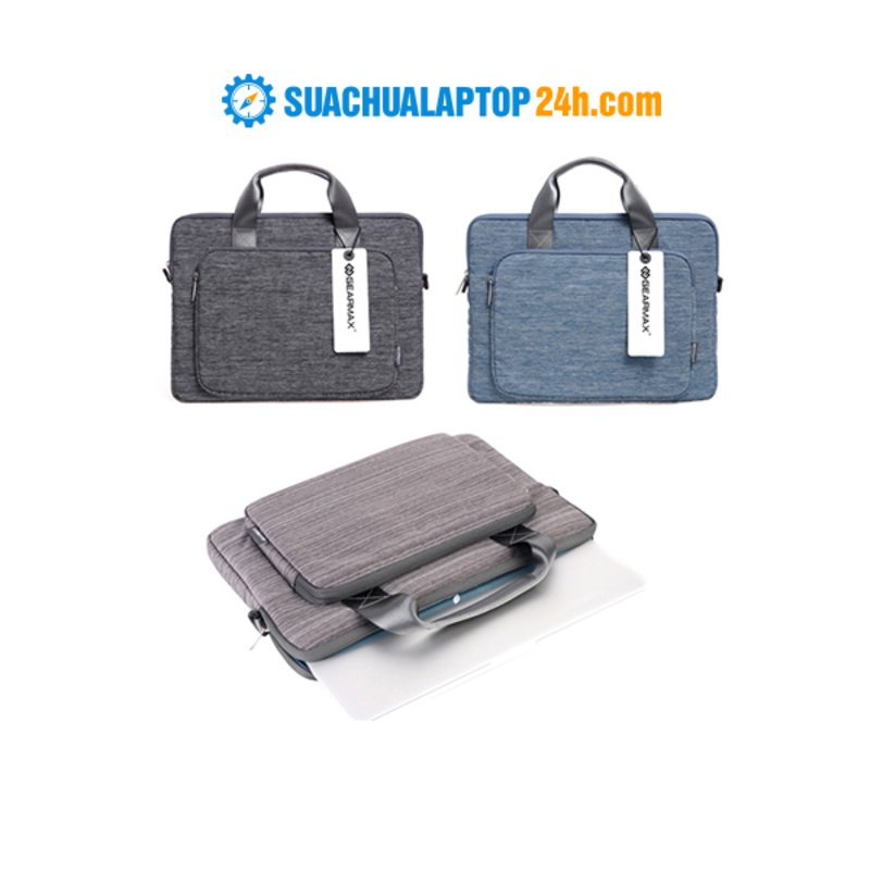 Túi xách tay GEARMAX Yashi 13-inch (Ghi/xanh/đen)