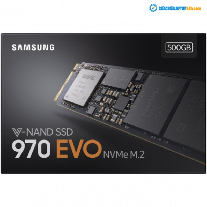 Ổ cứng SSD M2-PCIe 500GB Samsung 970 EVO NVMe 2280