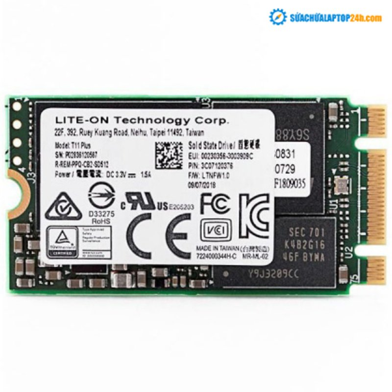 Ổ cứng SSD M2-PCIe 128GB Liteon T11 Plus 2242 NVMe