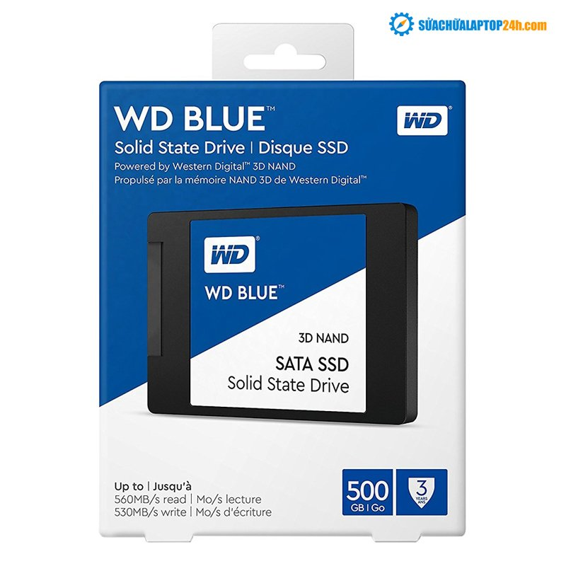 Ổ cứng SSD Western Digital WD Blue 3D NAND 500GB Sata 2.5 - WDS500G2B0A