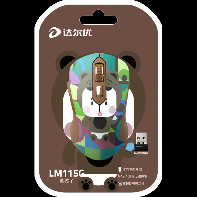 Chuột không dây DareU LM115G Multi-Color Bear