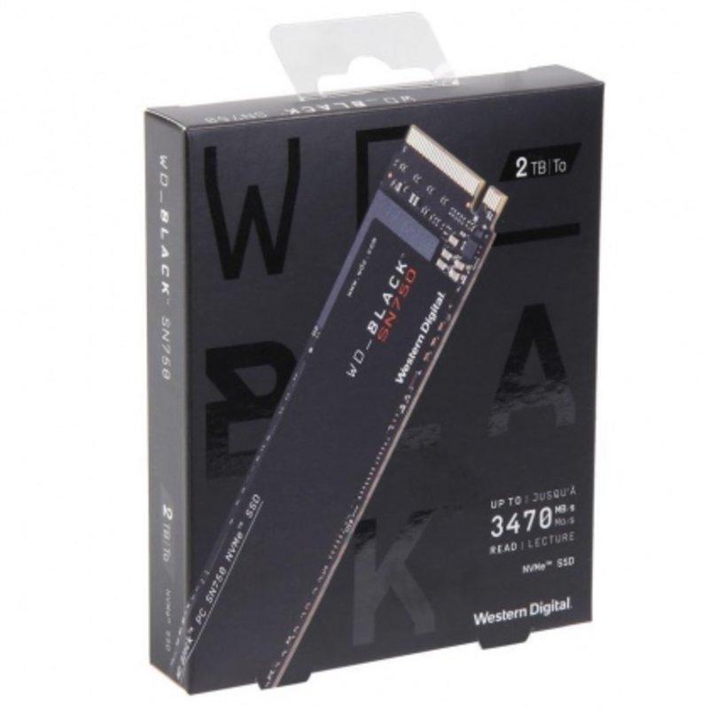 Ổ cứng SSD M2-PCIe 2TB Western Digital WD Black SN750 NVMe 2280