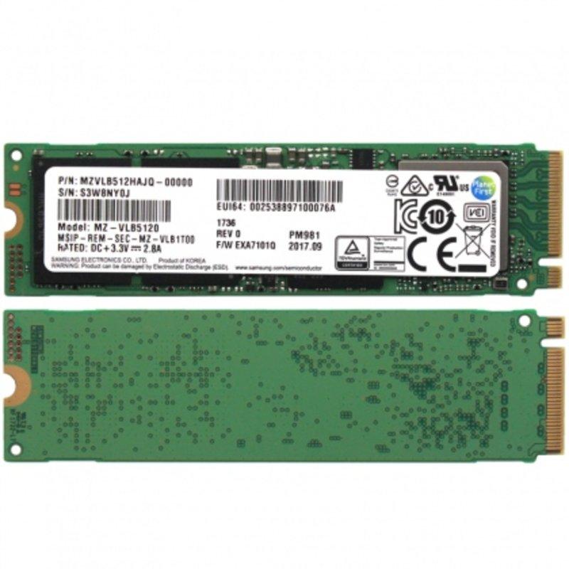 Ổ cứng SSD M2-PCIe 512GB Samsung PM981 NVMe 2280 (OEM Samsung 970 EVO)