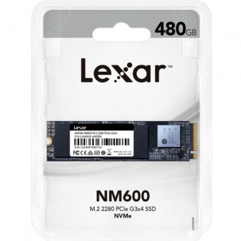 Ổ cứng SSD M2-PCIe 480GB Lexar NM600 NVMe 2280