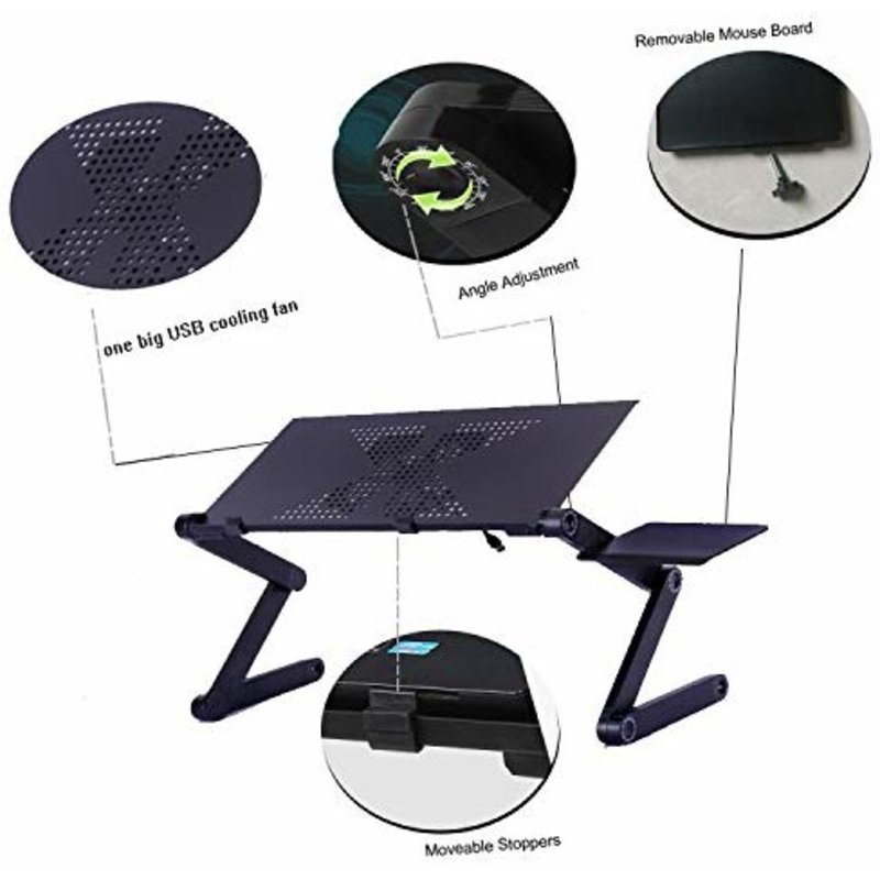 Giá đỡ Laptop Lemeng Aluminum Big Cooling Fans and Mouse Pad