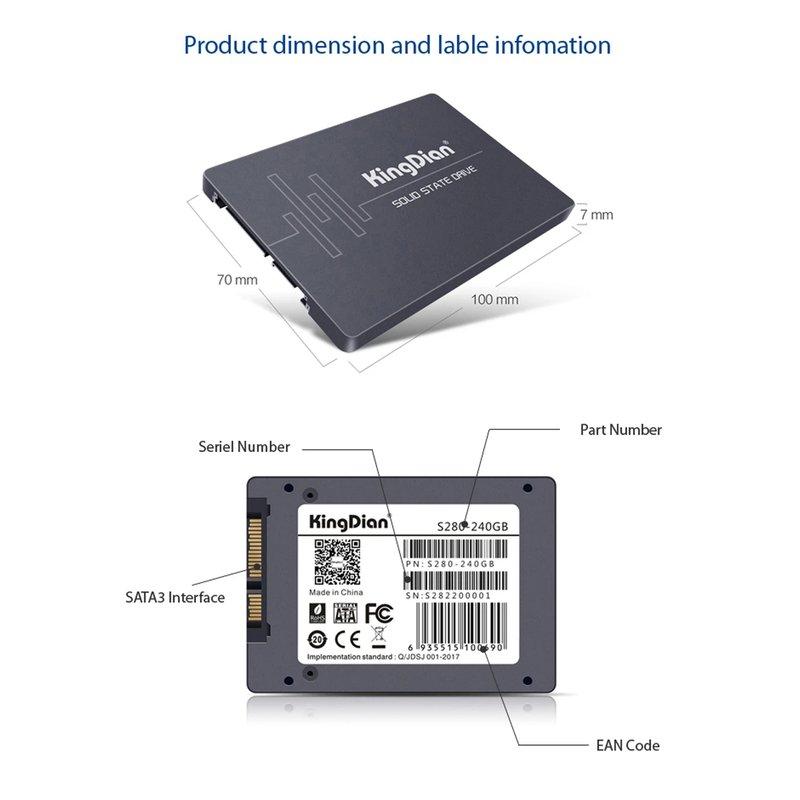 Ổ cứng SSD 120GB Kingdian S400 2.5-Inch SATA III