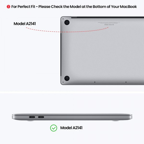 TÚI CHỐNG SỐC TOMTOC (USA) PREMIUM LEATHER FOR MACBOOK 16″ NEW GRAY
