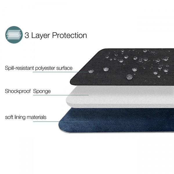 TÚI Cầm tay TOMTOC (USA) STYLE Tablet/iPad 10.5-11inch Black