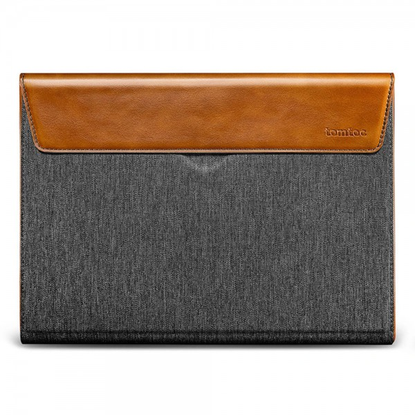 TÚI CHỐNG SỐC TOMTOC (USA) PREMIUM LEATHER FOR MACBOOK 15″ NEW GRAY