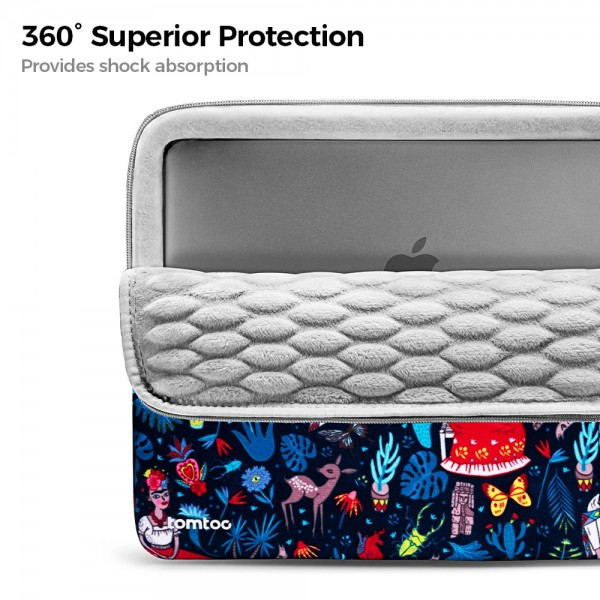 """TÚI CHỐNG SỐC TOMTOC (USA) 360° Protective  MACBOOK PRO 13"""" Dazzling Blue"""