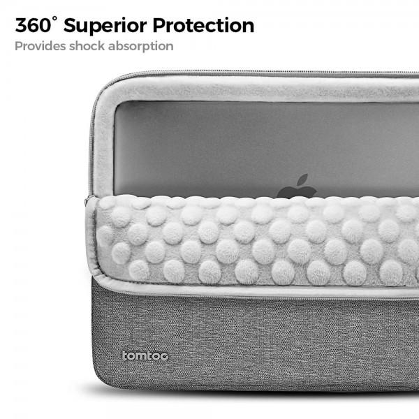 "TÚI CHỐNG SỐC TOMTOC (USA) 360° Protective  MACBOOK PRO 15"" Gray"