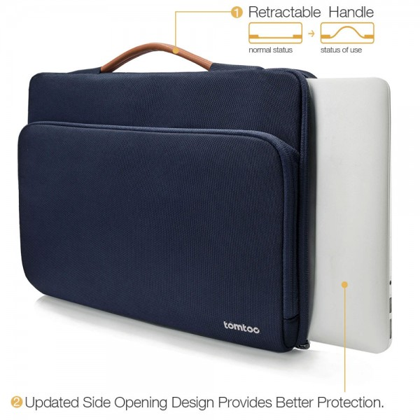 "TÚI XÁCH CHỐNG SỐC TOMTOC (USA) Briefcase  MACBOOK PRO 13"" Blue"
