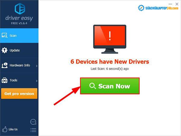 Sử dụng Driver Easy để cập nhật Driver âm thanh