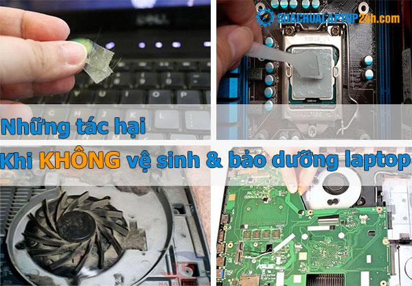 tác hại khi không vệ sinh bảo dưỡng laptop